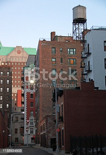 istock Brooklyn Heights Buildings with Water Tower 1133934503