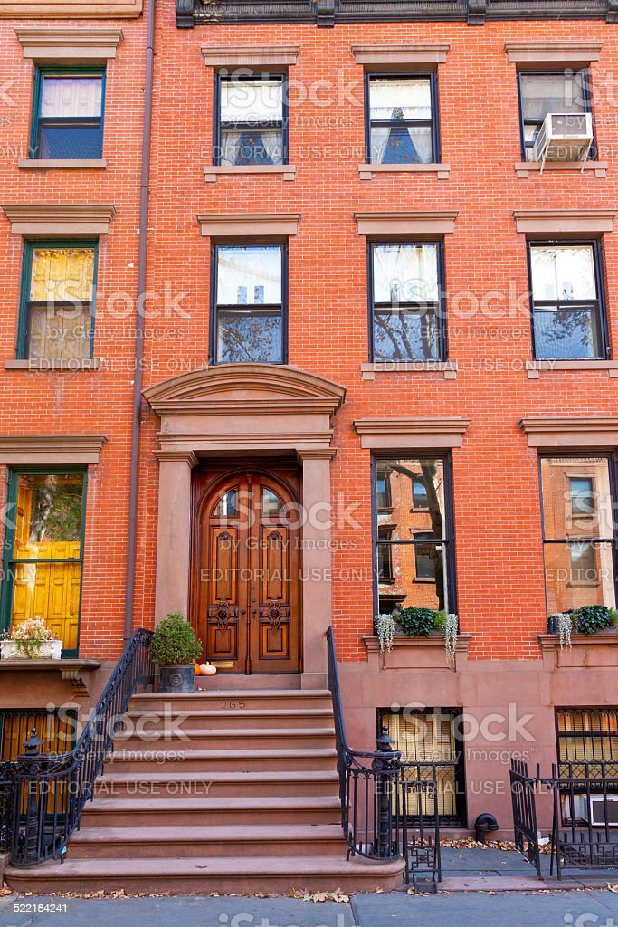 Brooklyn Heights Townhouses, Brooklyn, New York. stock photo