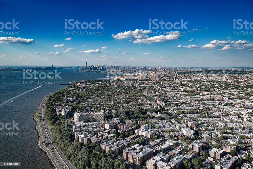 Brooklyn New York Aerial stock photo