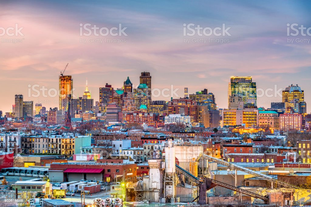 Brooklyn, New York Skyline - foto stock