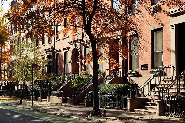 Brooklyn, New York, historische Gebäude, Wohnhäuser und Sandsteinziegel – Foto