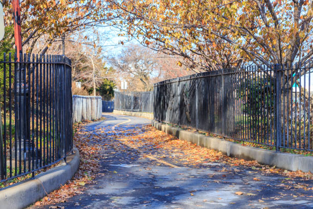 Brooklyn Park in Fall stock photo