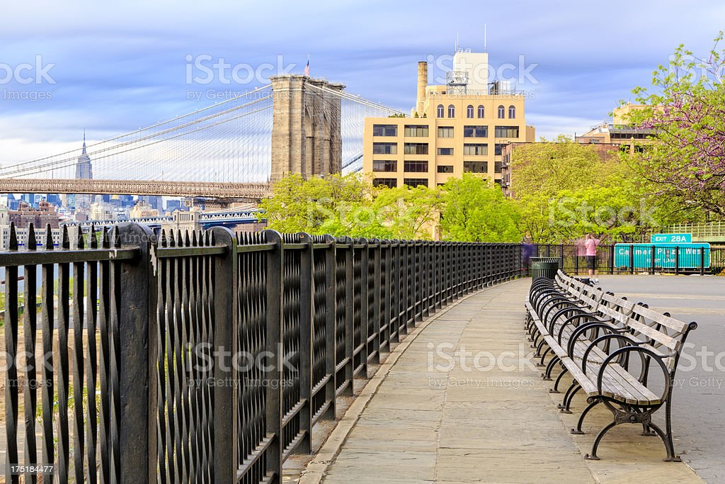 Brooklyn Promenade, NYC stock photo