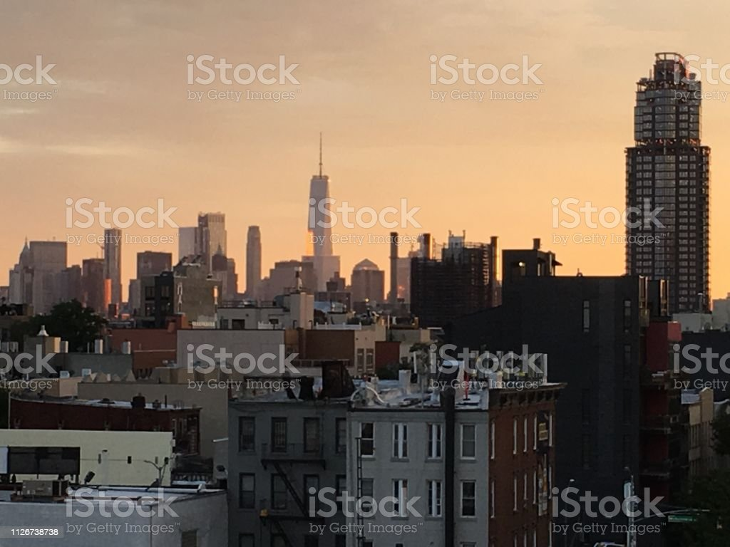 Brooklyn Rooftop view stock photo