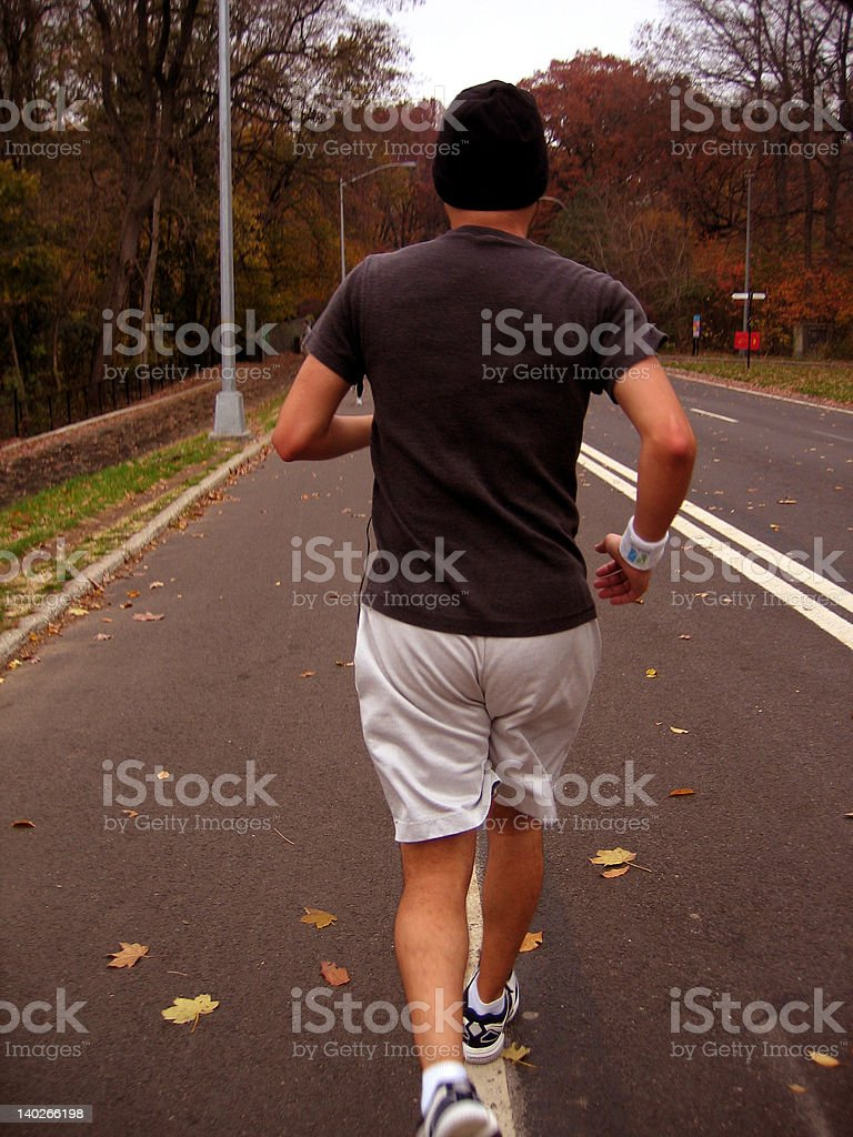 brooklyn runner in prospect park royalty-free stock photo