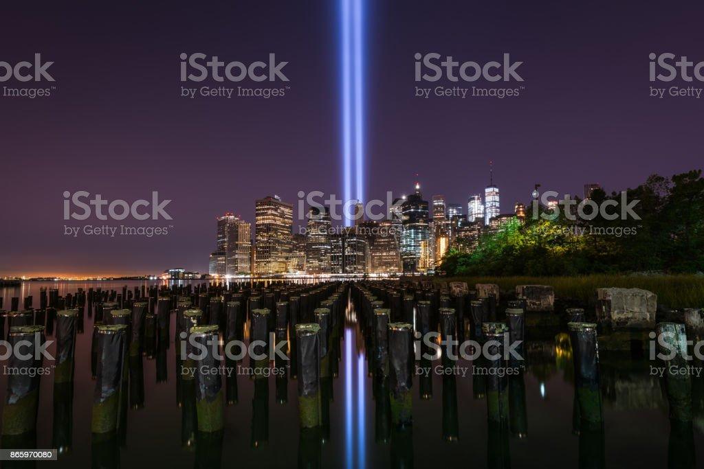 Brooklyn Sticks Tribute In Light stock photo