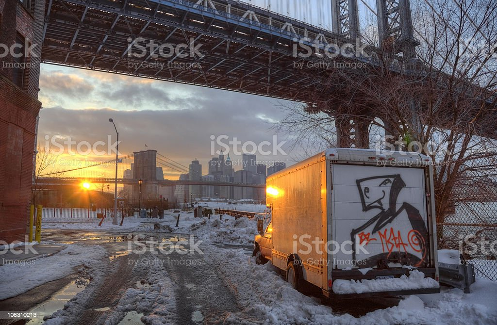 Brooklyn Sunset royalty-free stock photo