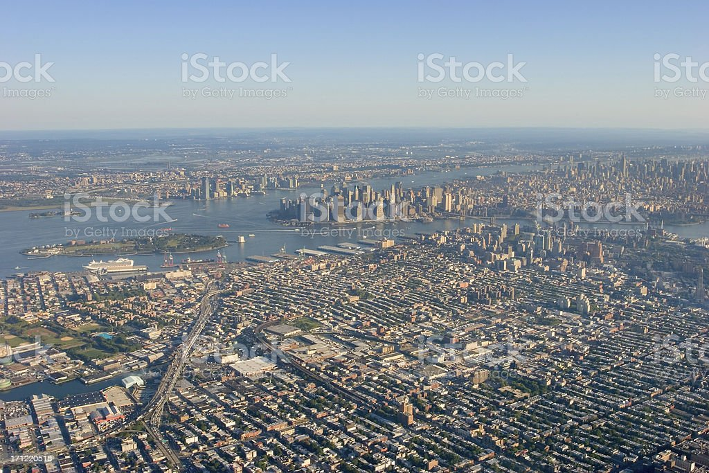Brooklyn to Manhattan royalty-free stock photo