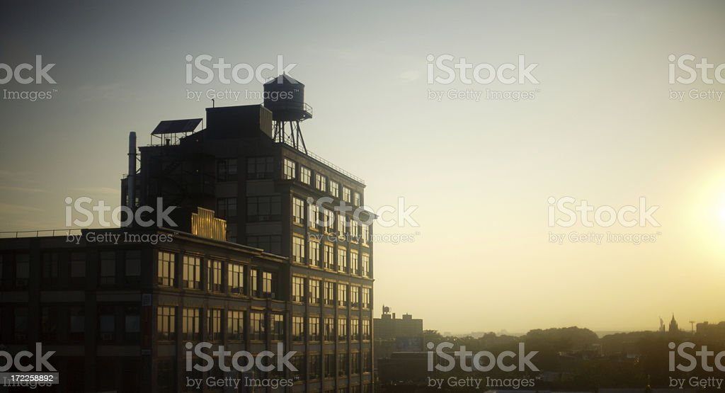 Brooklyn Watertower stock photo