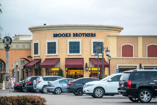 Brooks Brothers in Las Americas shopping mall, San Diego, USA stock photo