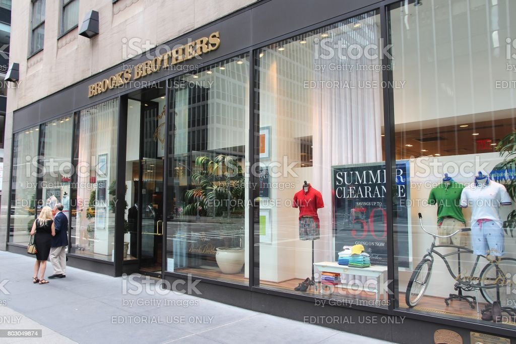 Brooks Brothers NYC stock photo
