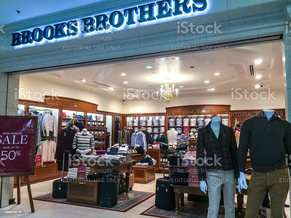 Brooks Brothers Store at Atlanta Airport, USA stock photo