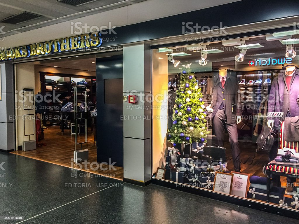Brooks Brothers Store at Linate Airport, Milan stock photo
