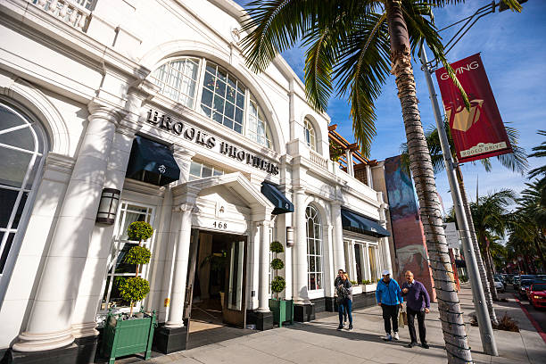 Brooks Brothers Store on Rodeo Drive, Beverly Hills, USA stock photo