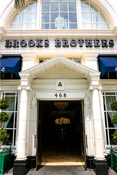 Brooks Brothers store on Rodeo Drive in Beverly Hills, California stock photo