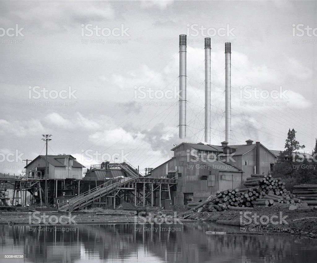 Brooks-Scanlon lumber mill circa 1977 stock photo