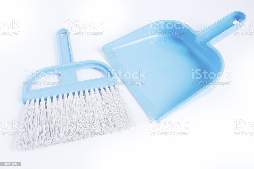 broom and dustpan royalty-free stock photo