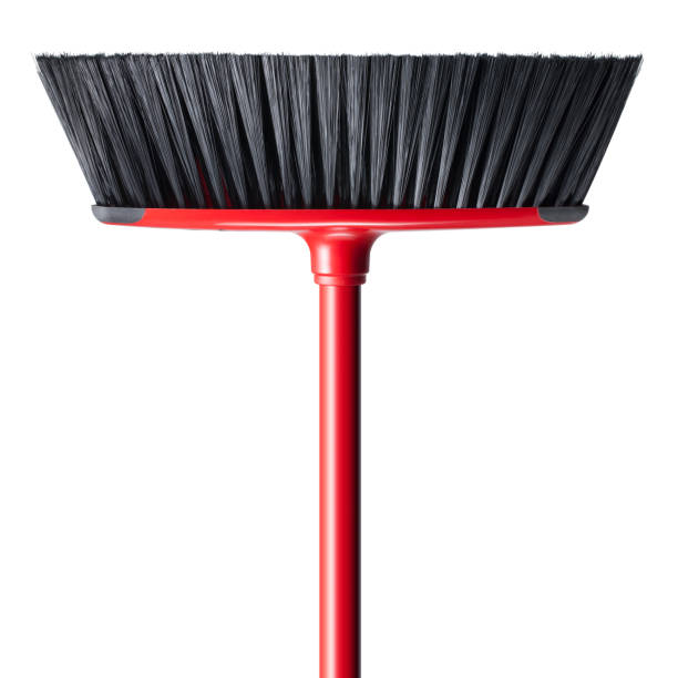 Broom on white background Broom on white background. broom stock pictures, royalty-free photos & images