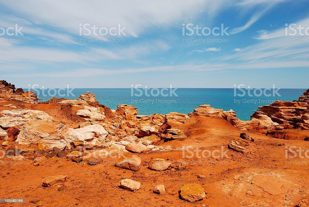 Broome rocks stock photo