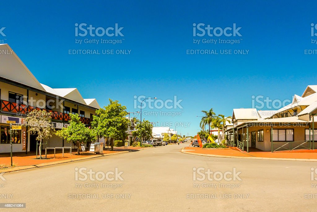 Broome Township on the corner of Dampier Terrace stock photo
