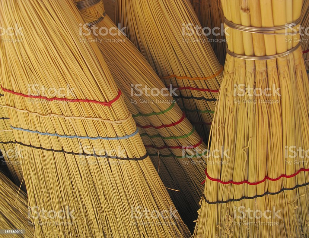 Brooms Sorghum Broomcorn stock photo