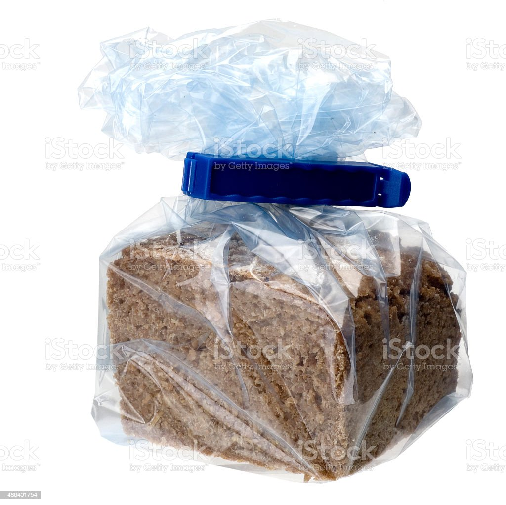 Brot im Gefrierbeutel stock photo