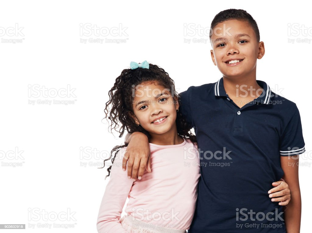 Brother and sister, aka, best friends stock photo