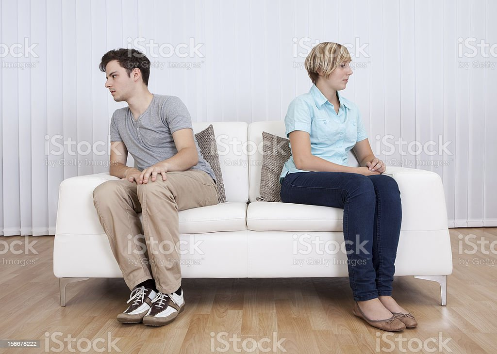 Brother and sister arguing stock photo