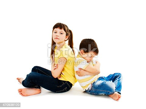 585604690istockphoto Brother and sister back to back in quarrel 470938120