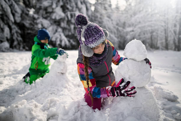 Brother and sister building snowmen in winter forest picture id1032856380?b=1&k=6&m=1032856380&s=612x612&w=0&h=dot68o6ubqclfgtc4gsjzylh4kmu9efl u2ox00ifce=