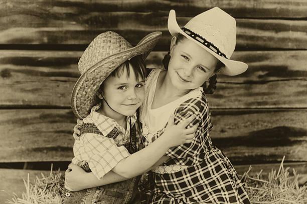 Bruder und Schwester – Foto