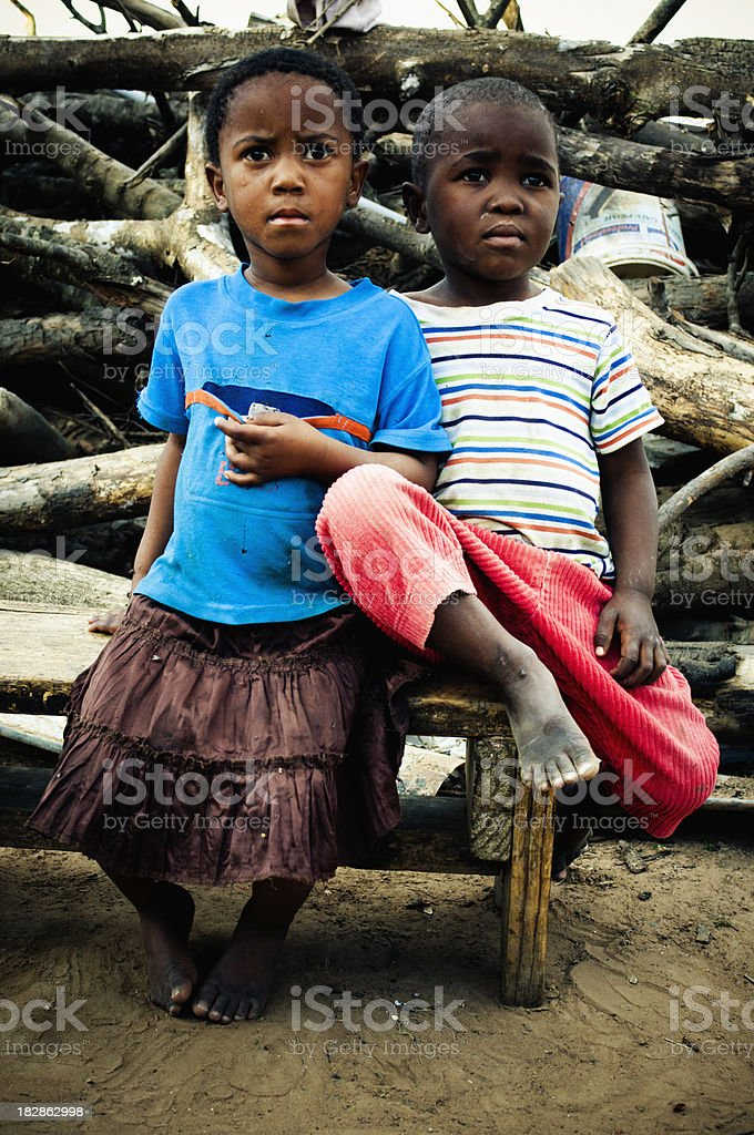 Brother and sister royalty-free stock photo