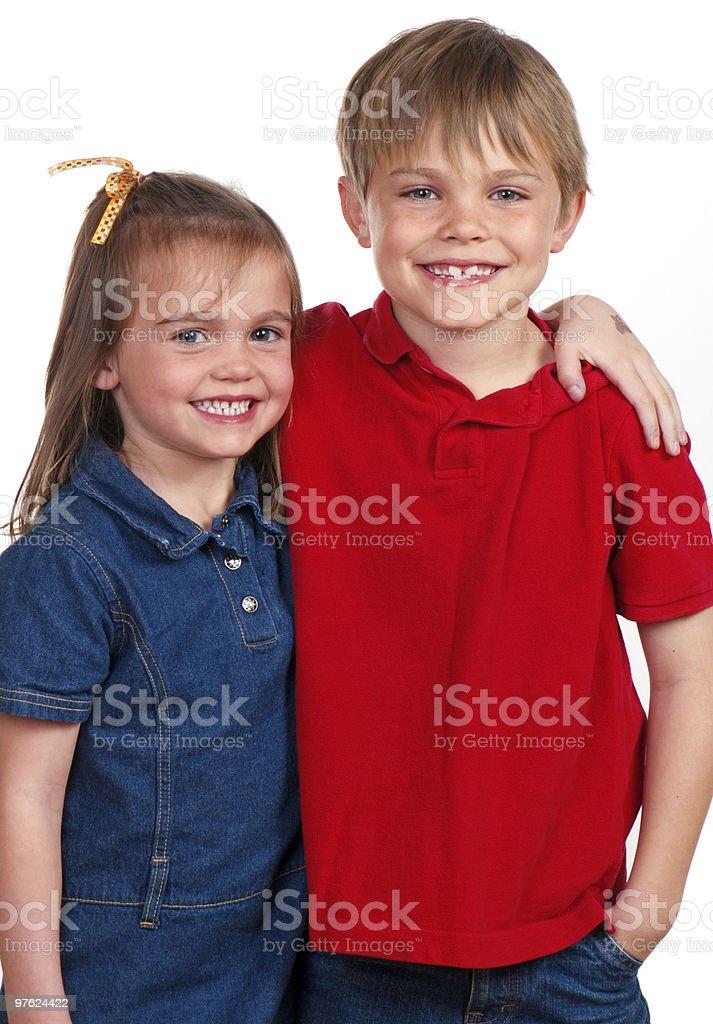 Brother And Sister royaltyfri bildbanksbilder