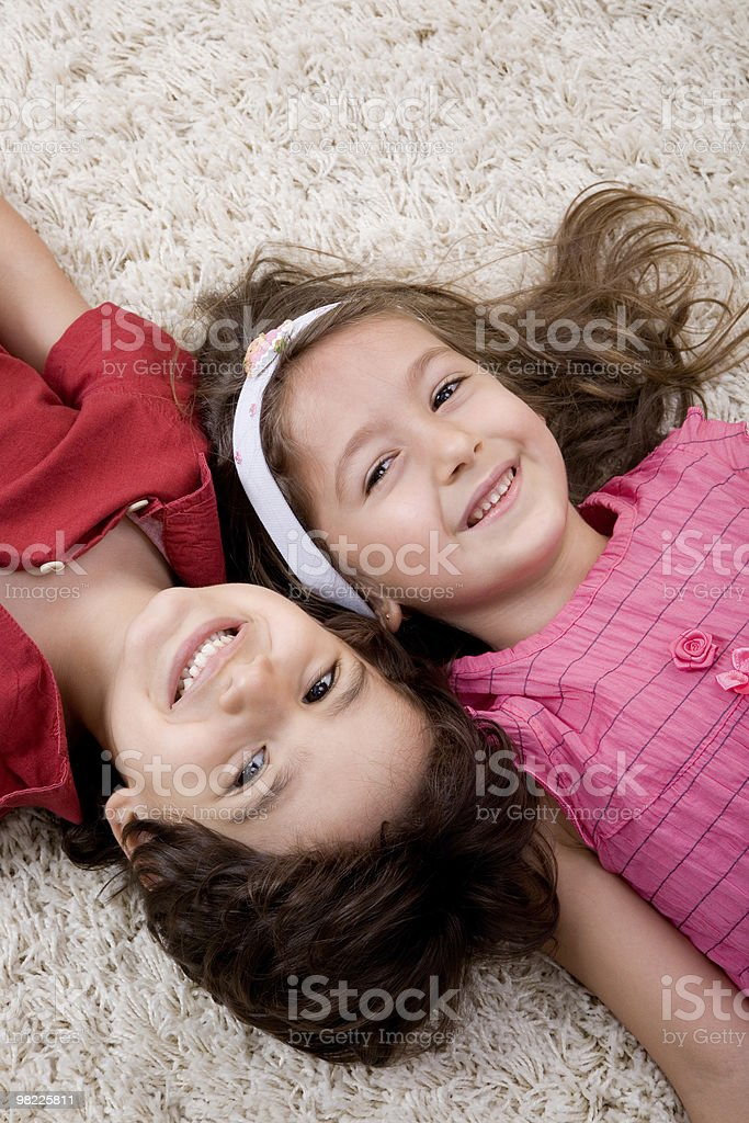 Brother and sister series royalty-free stock photo