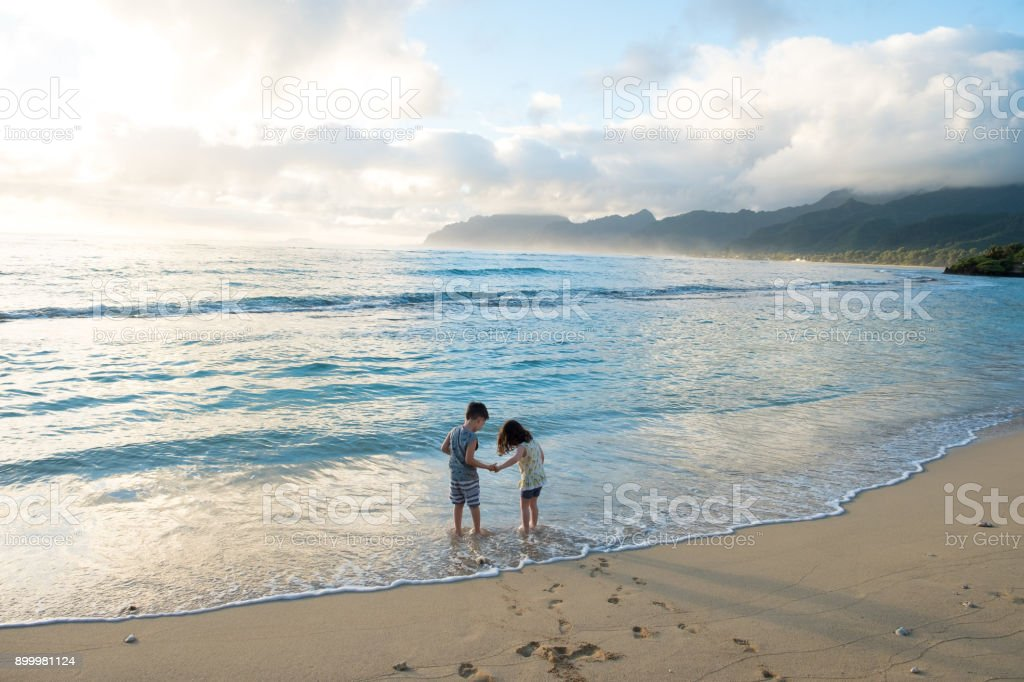 Brother and Sister Siblings Lifestyle Portrait stock photo