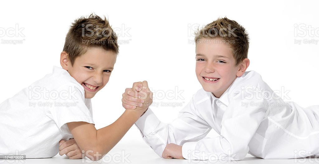 brother fighing royalty-free stock photo
