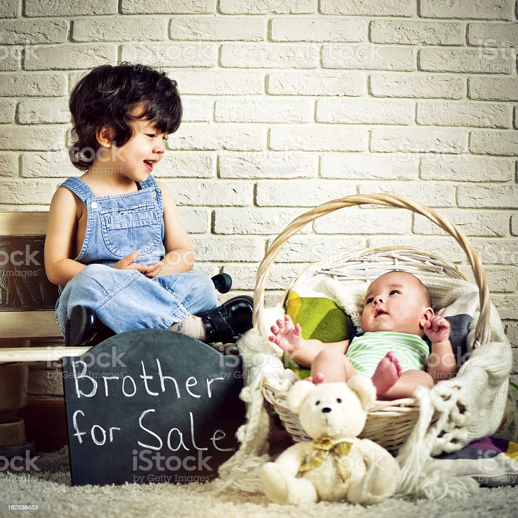 Brother for sale stock photo