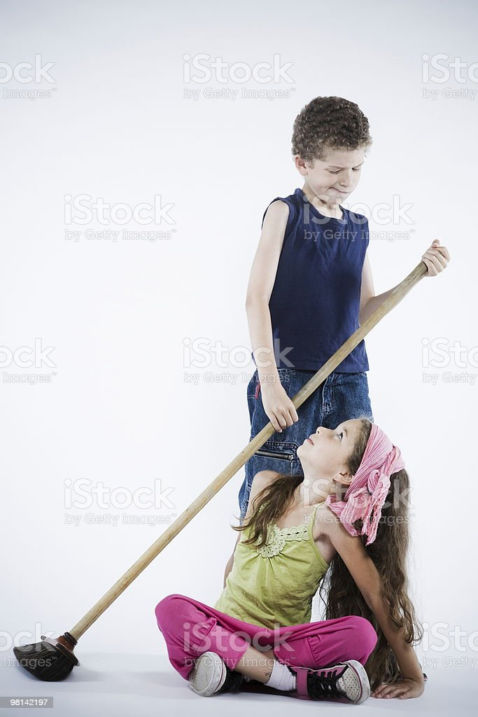 brother sister dispute conflict royalty-free stock photo