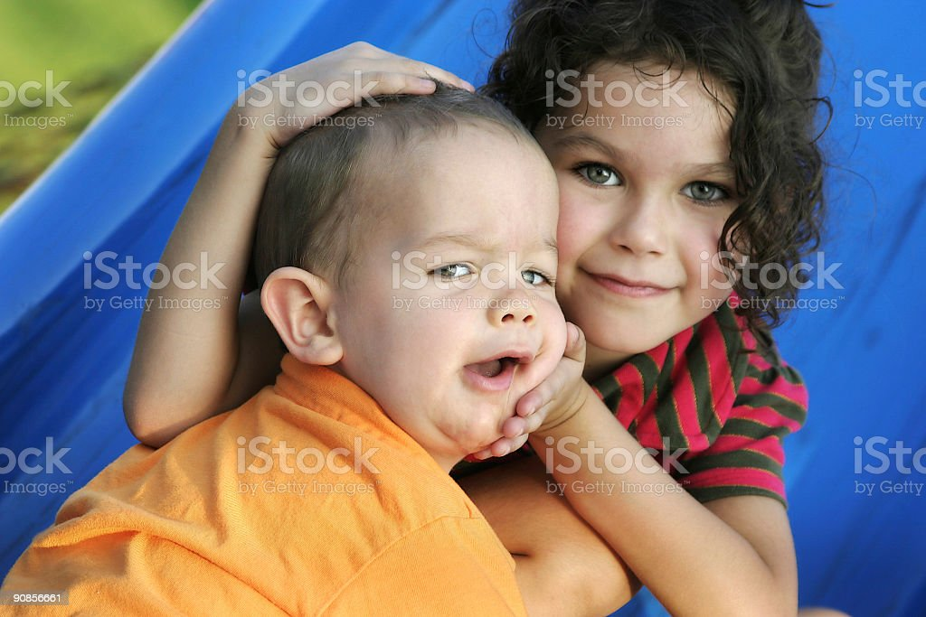 Brother Sister Siblings Children royalty-free stock photo