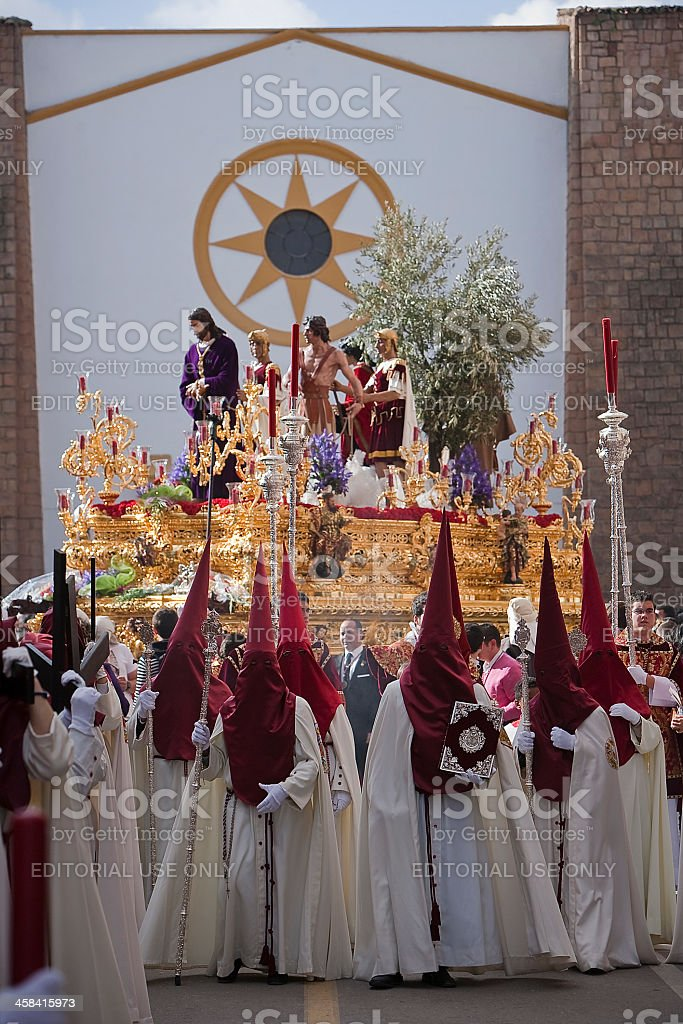 Brotherhood of Jesus in procession, Spain royalty-free stock photo