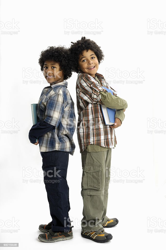 Brothers and books royalty-free stock photo
