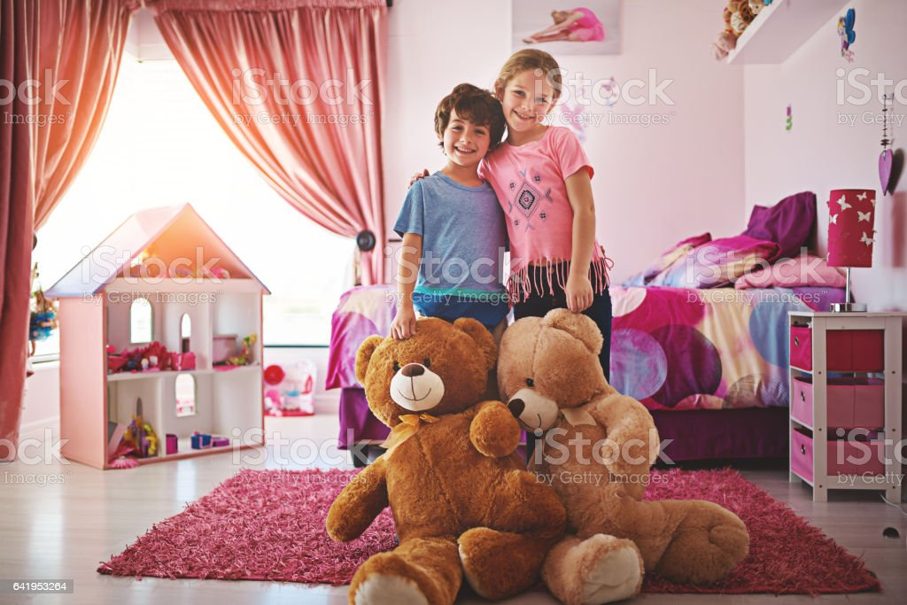Brothers and sisters make the bestest of friends stock photo