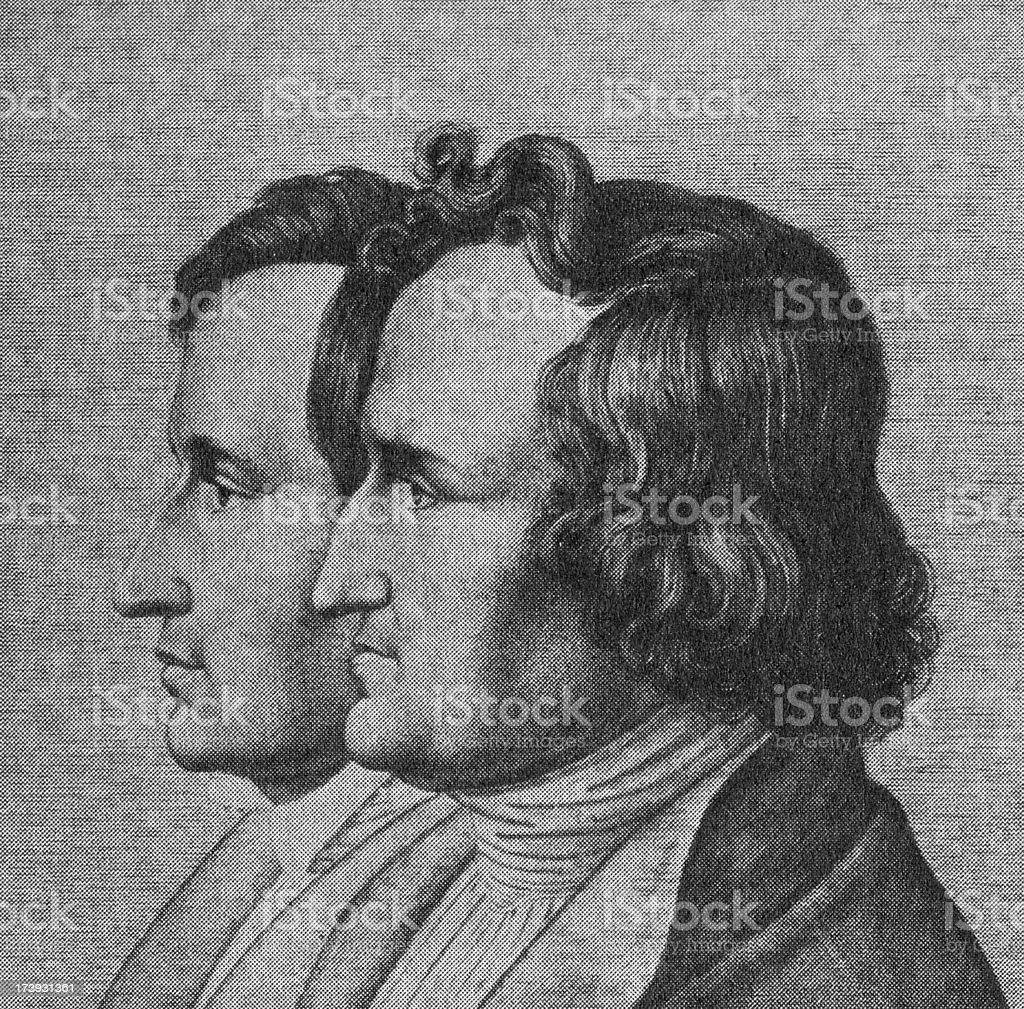 Brothers Grimm, painting XXL royalty-free stock photo