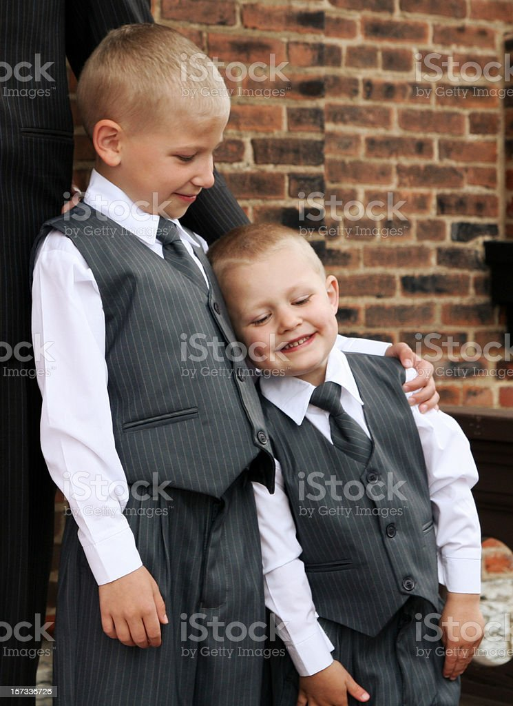 brothers in nice vests royalty-free stock photo