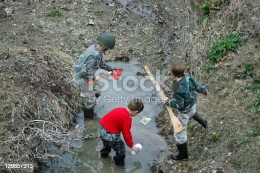 istock Brothers Looking for Frogs 139857913