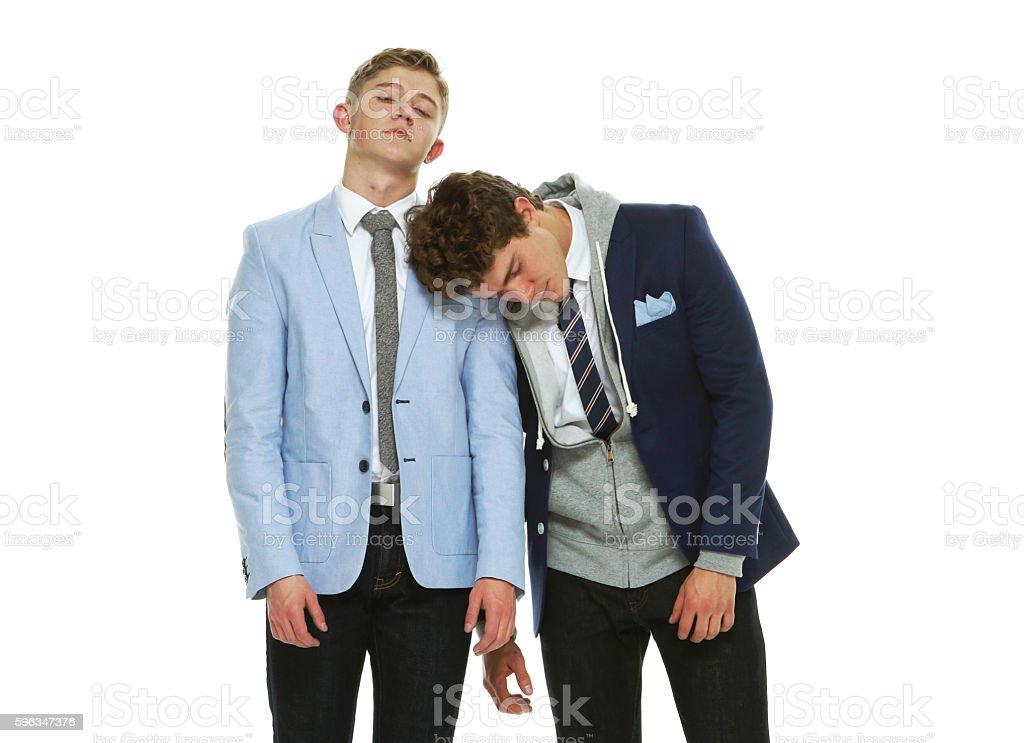 Brothers sleeping royalty-free stock photo