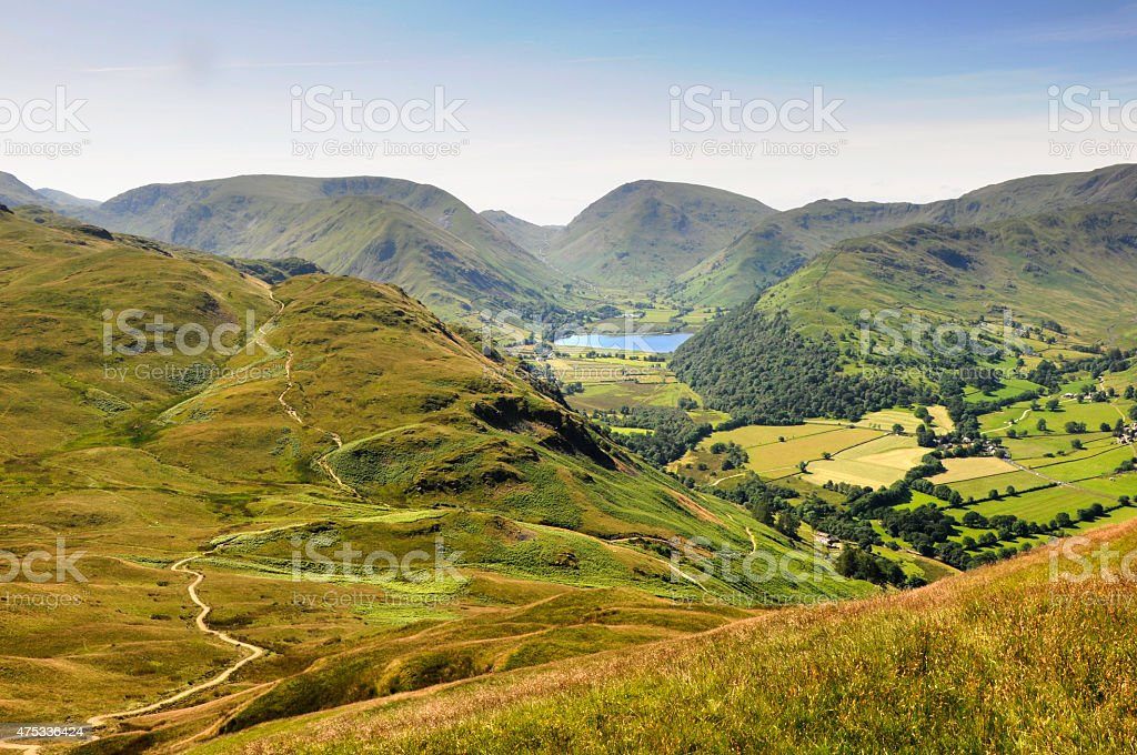 Brothers Water from Place Fell stock photo