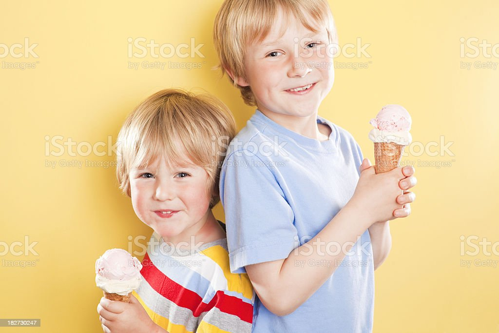 Brothers with Ice Cream royalty-free stock photo