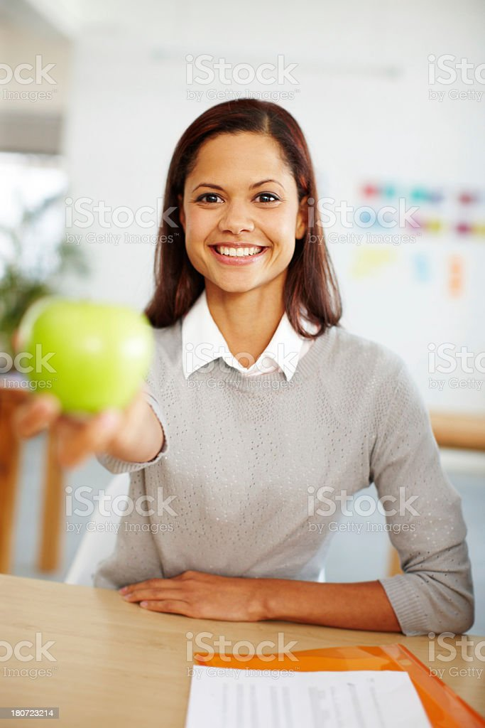 I brought you an apple royalty-free stock photo