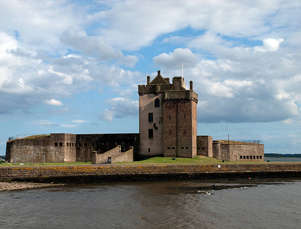Broughty Castle, Dundee stock photo